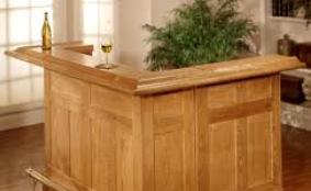 oak wood bar rail